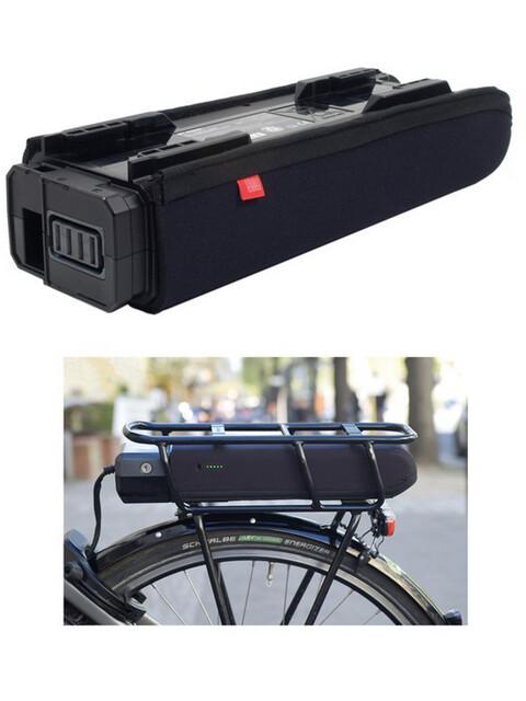 Fahrer Berlin E-Bike Kedjestagsskydd för Shimano Steps E6000 pakethållarbatteri svart